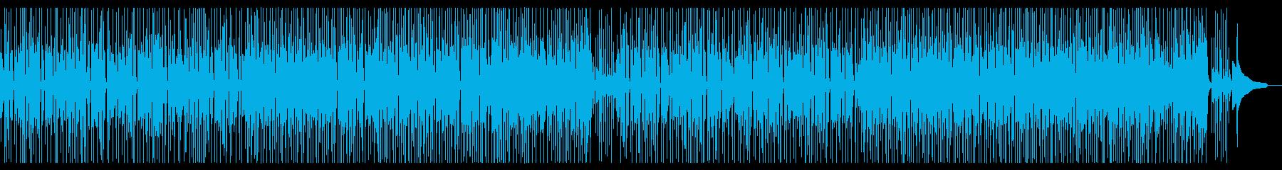 明るいミディアムテンポの三味線曲の再生済みの波形