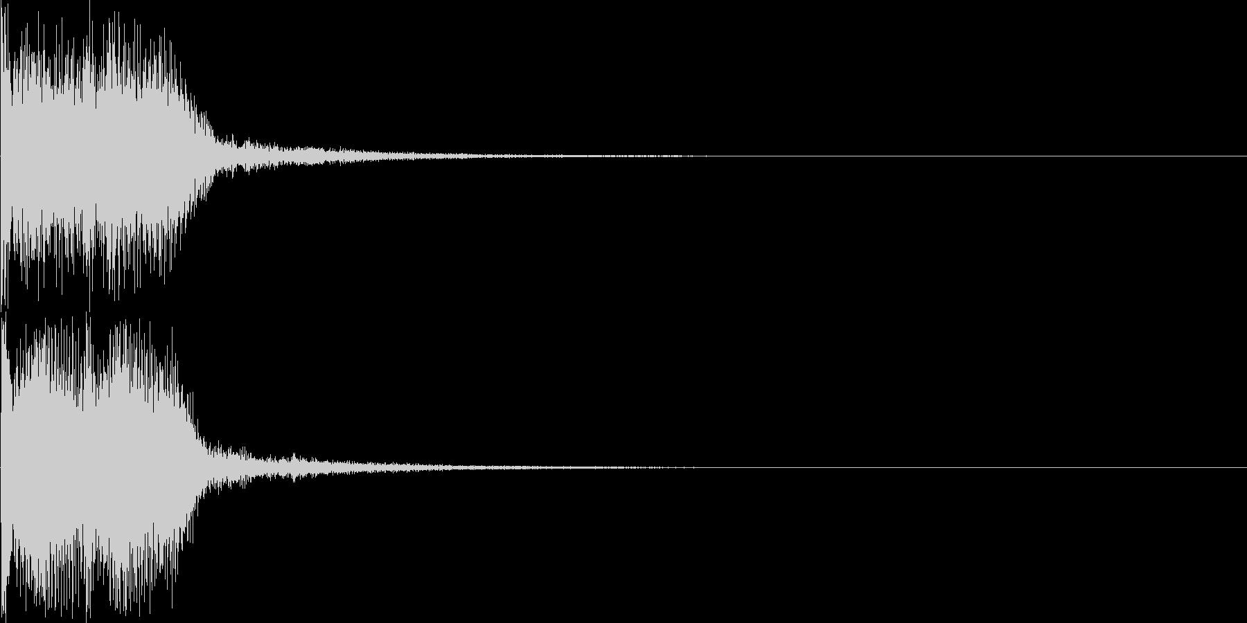 重大発表・テーマ発表の時の効果音の未再生の波形