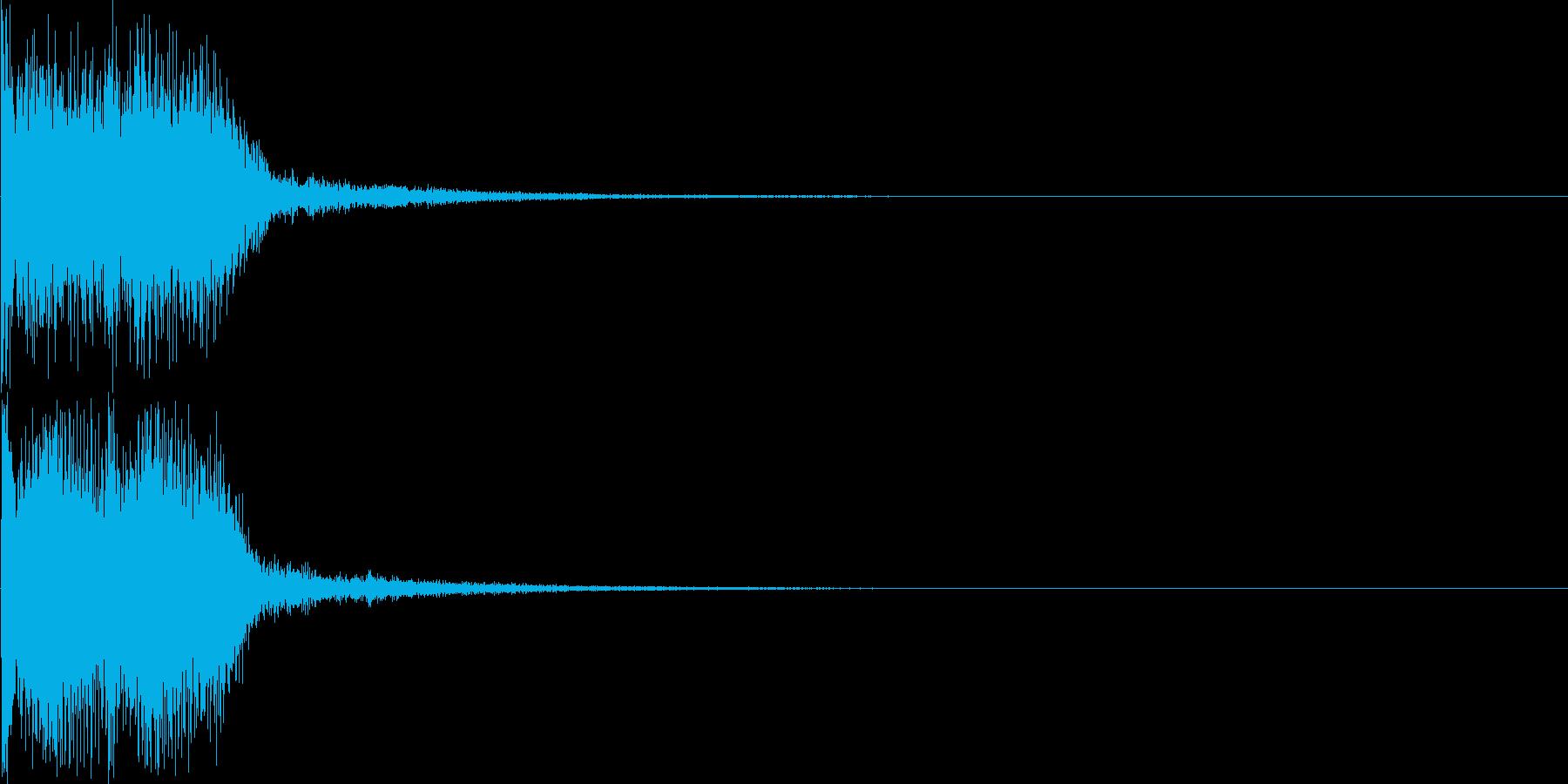 重大発表・テーマ発表の時の効果音の再生済みの波形