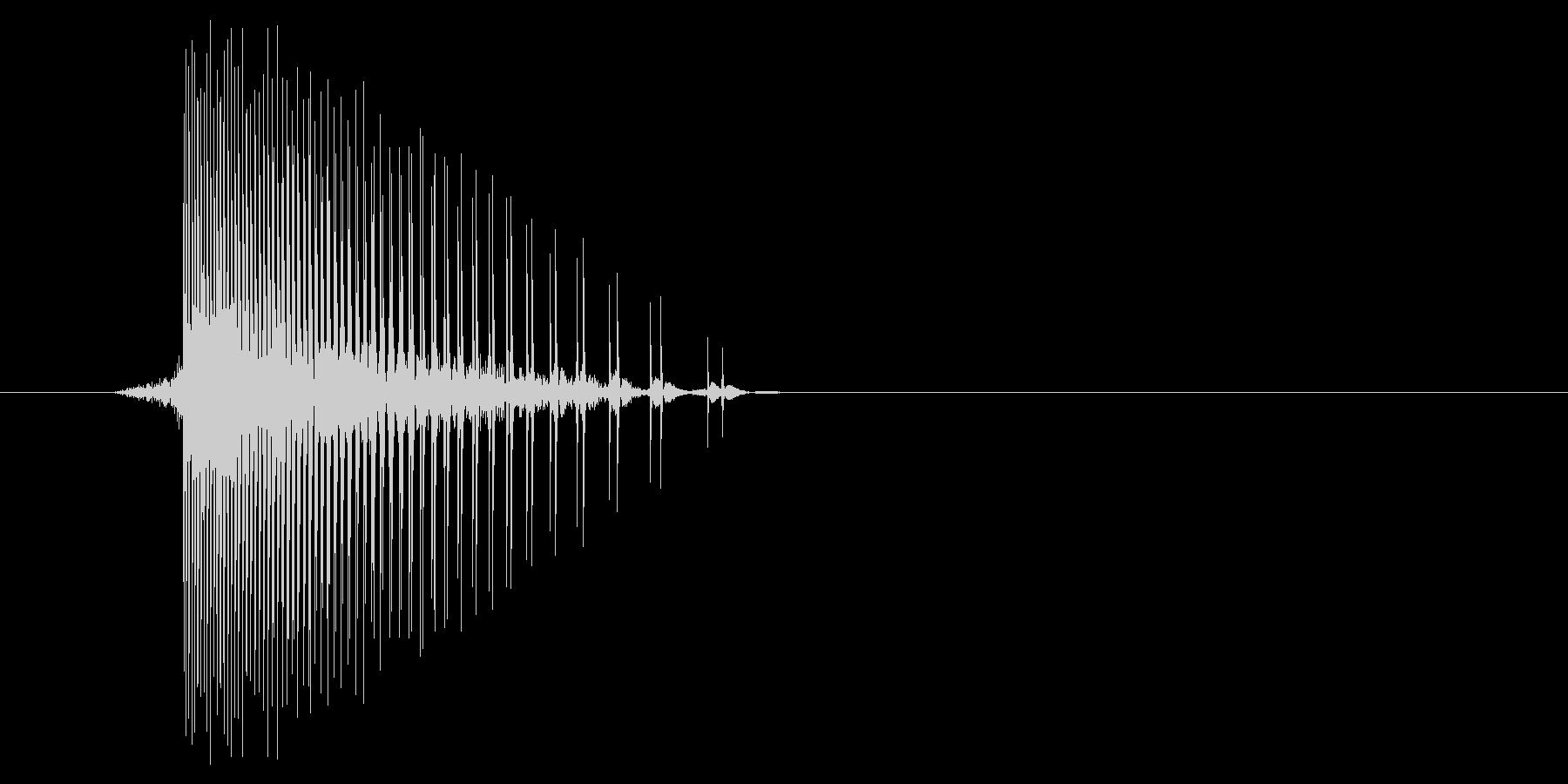 ゲーム(ファミコン風)ヒット音_009の未再生の波形