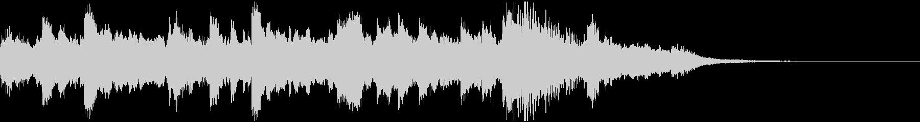 ハープのオリエンタルなジングルの未再生の波形