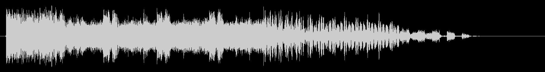 サイバーファンクの未再生の波形