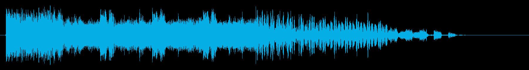 サイバーファンクの再生済みの波形
