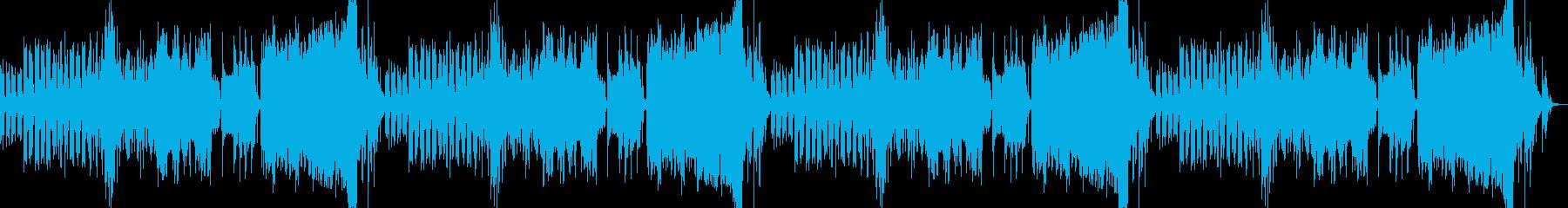 雄大で神秘的なピアノとハープによるBGMの再生済みの波形
