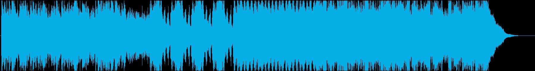ホラー感のあるピアノ&オーケストラ曲の再生済みの波形