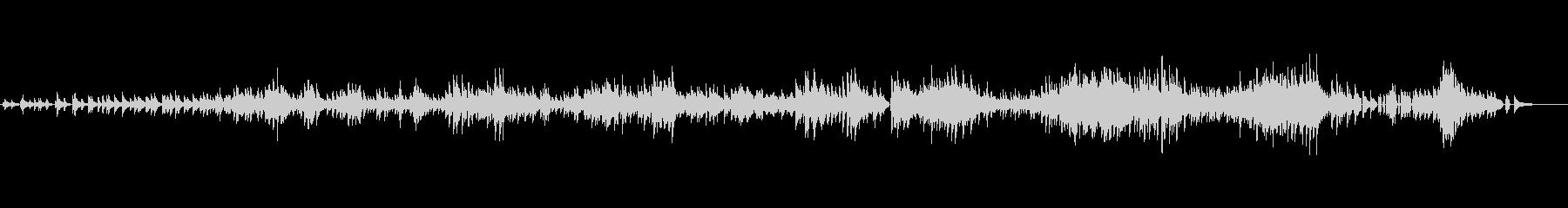 生ピアノソロ・クリスマス曲・ジャズワルツの未再生の波形