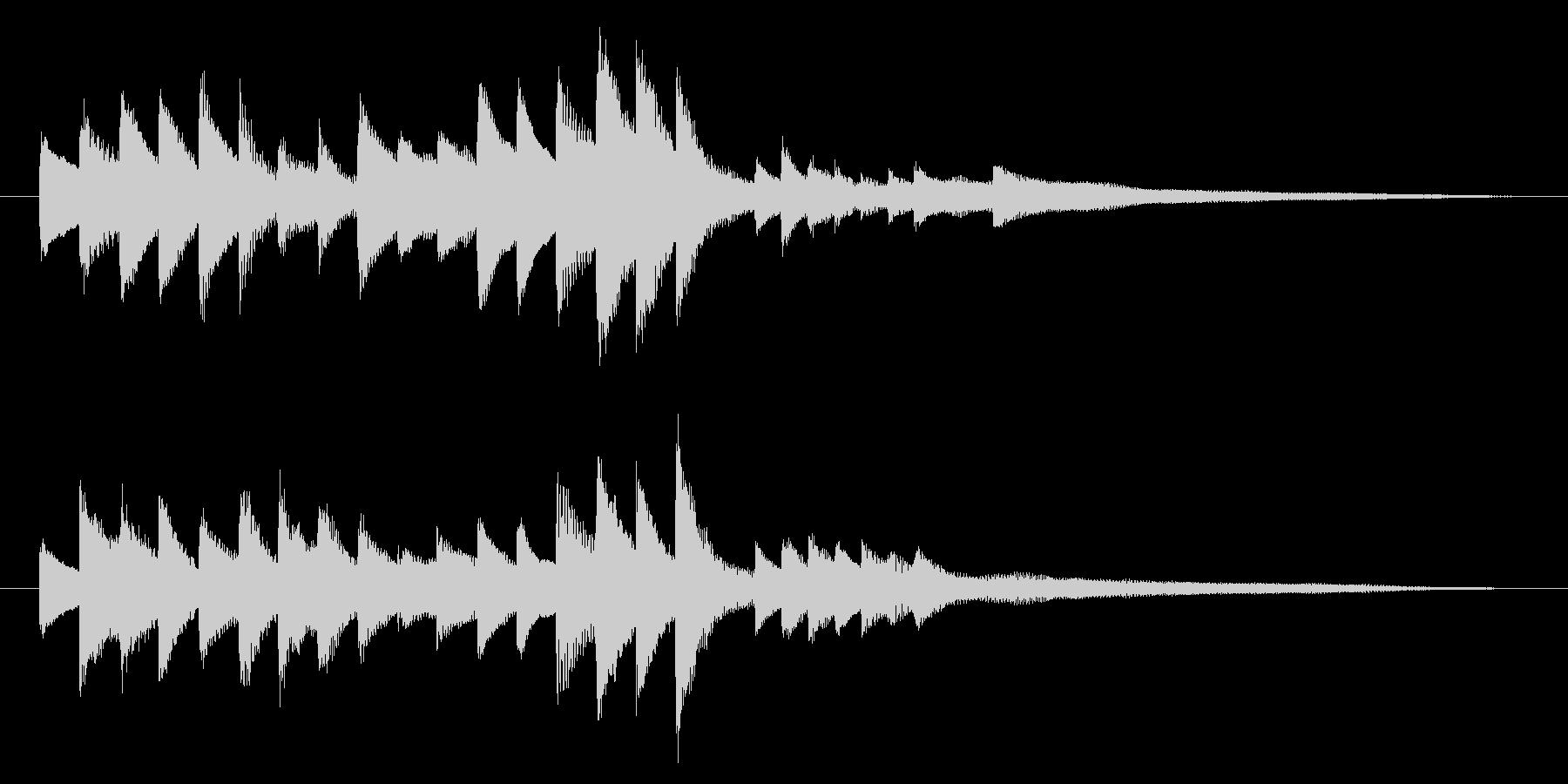 落ち着いた雰囲気の ピアノのジングルの未再生の波形
