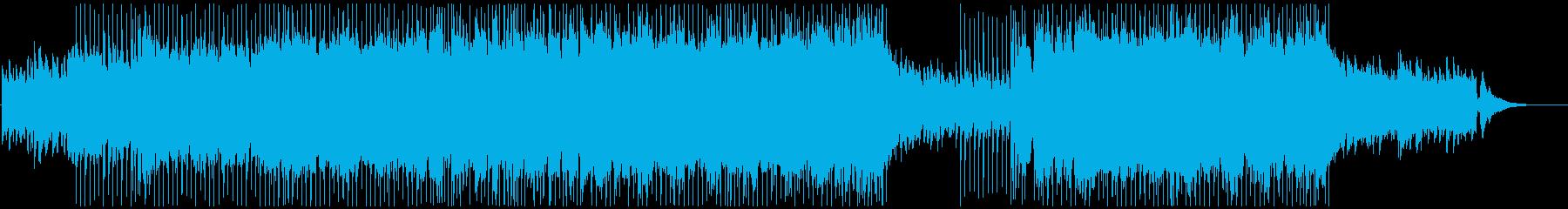 爽やかなアコギとオーケストラのポップスの再生済みの波形