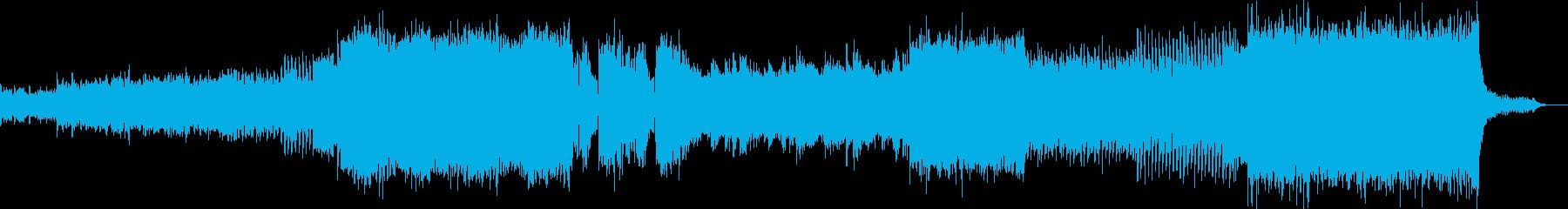 綺麗で爽やかなEDMの再生済みの波形