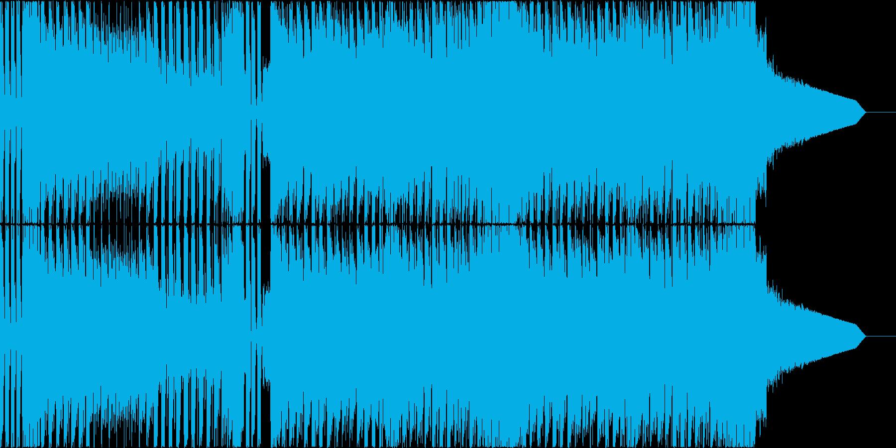 突き抜けるバイオリンの疾走感溢れるBGMの再生済みの波形