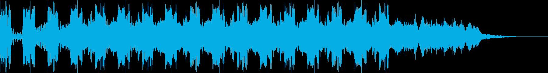 リバーブ出力付き警告アラームパルスの再生済みの波形