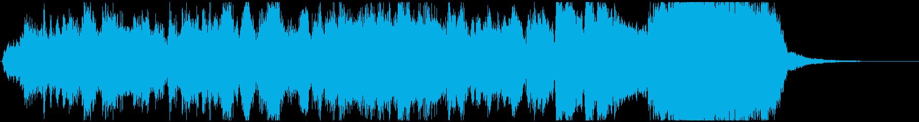 生演奏トランペット華やかなファンファーレの再生済みの波形