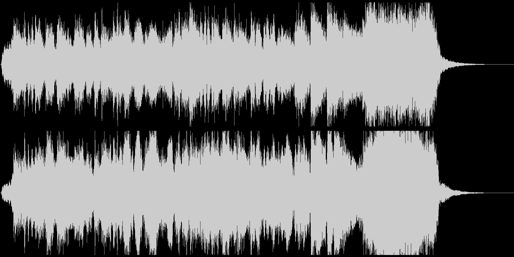 生演奏トランペット華やかなファンファーレの未再生の波形