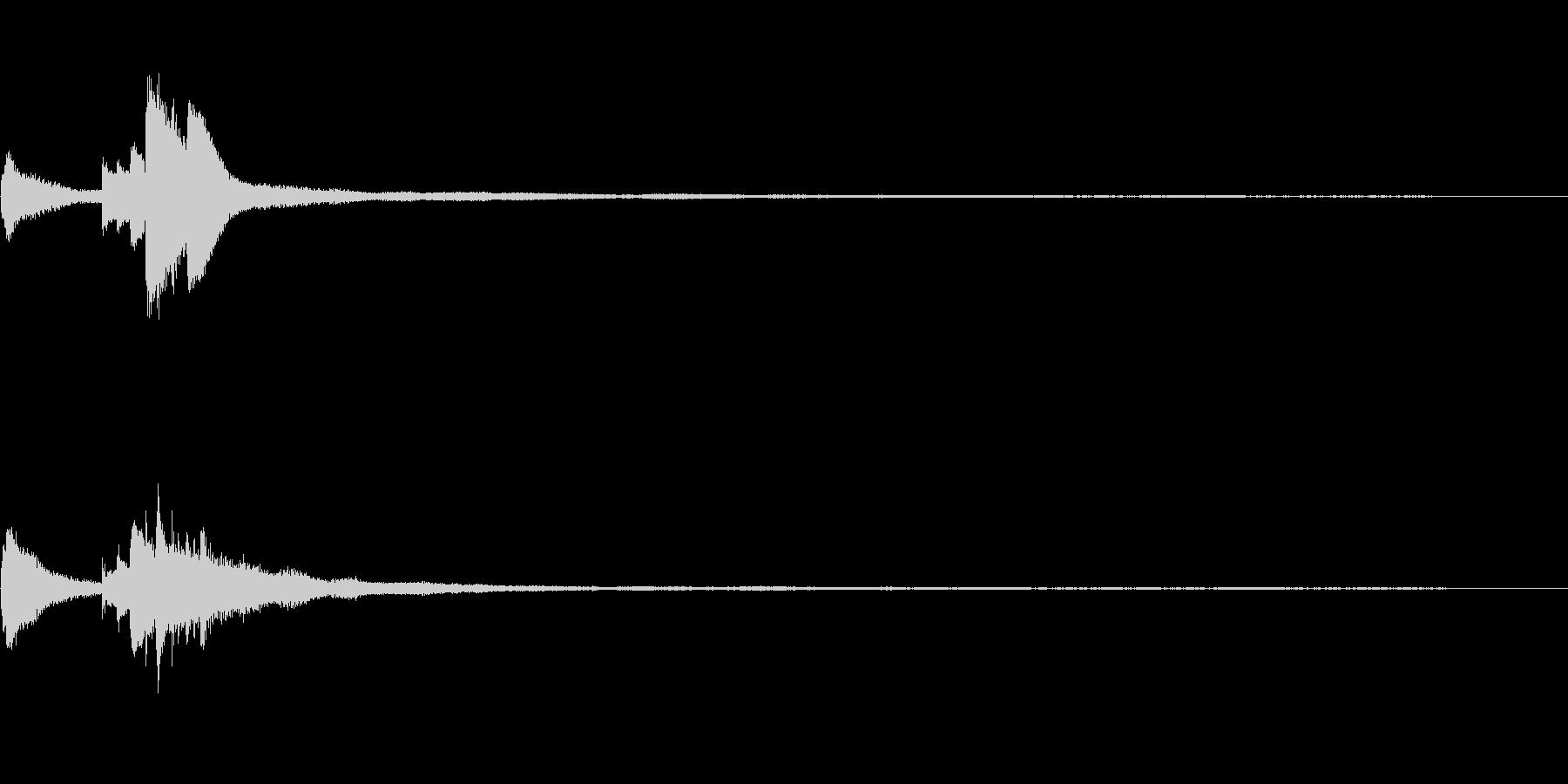 注意をひく和風ジングル32C-ピアノソロの未再生の波形