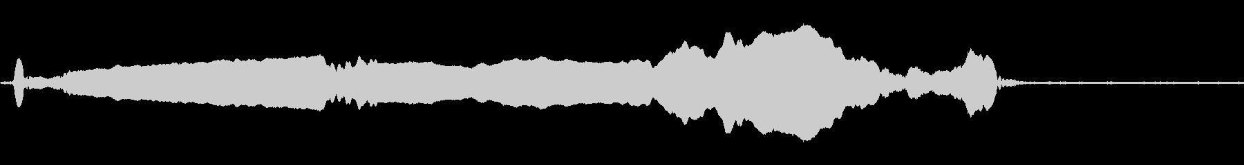 ウルフハウル、ローン、ハイピッチの未再生の波形