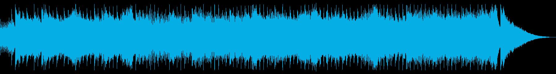 パワフルな近未来的シンセサウンドの再生済みの波形