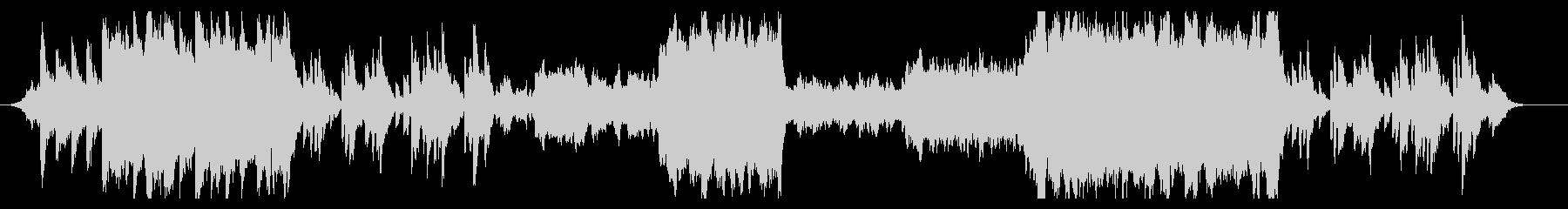 エモーショナルなエンディング風BGMの未再生の波形