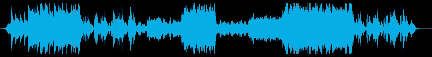 エモーショナルなエンディング風BGMの再生済みの波形