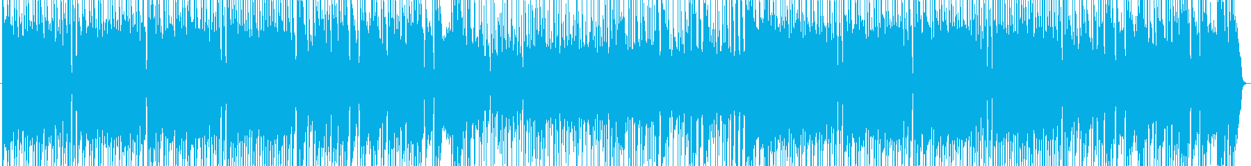アップテンポでギターリフ押しのロックの再生済みの波形