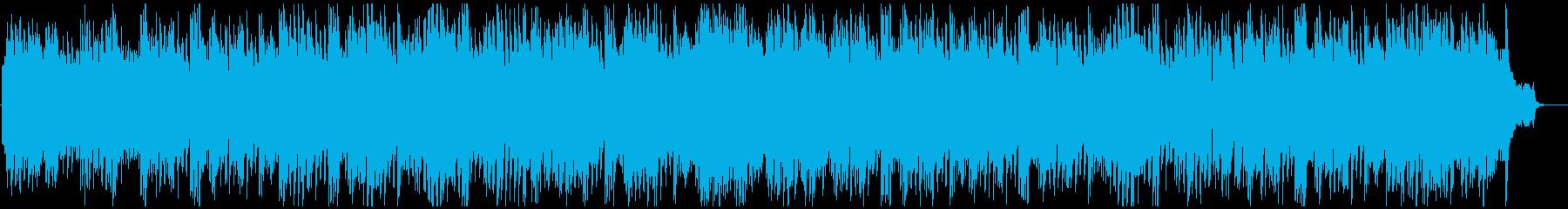ドラマのオープニングのような感動的な曲の再生済みの波形
