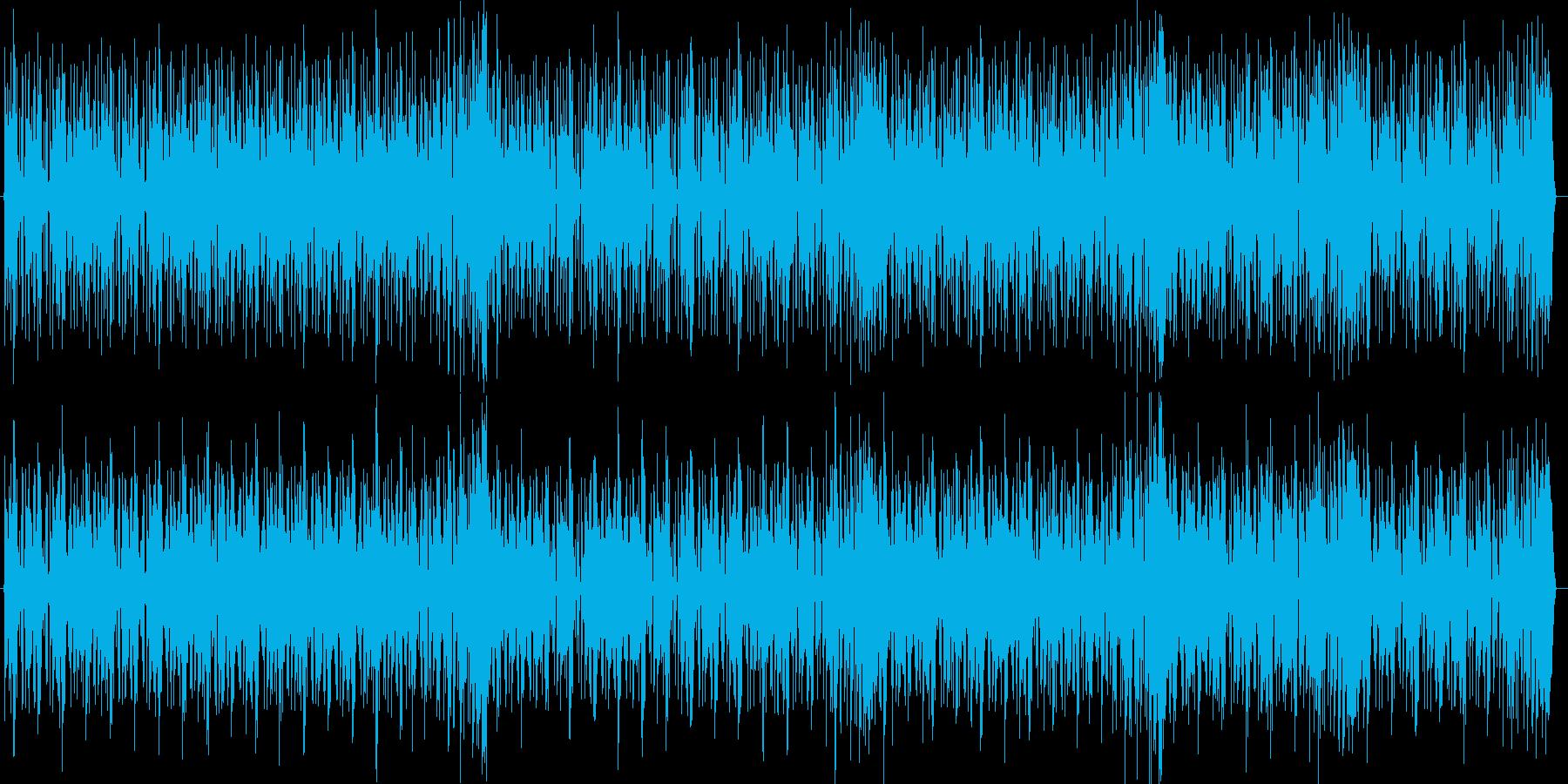 HIPHOPの曲調にメロディーのある曲の再生済みの波形
