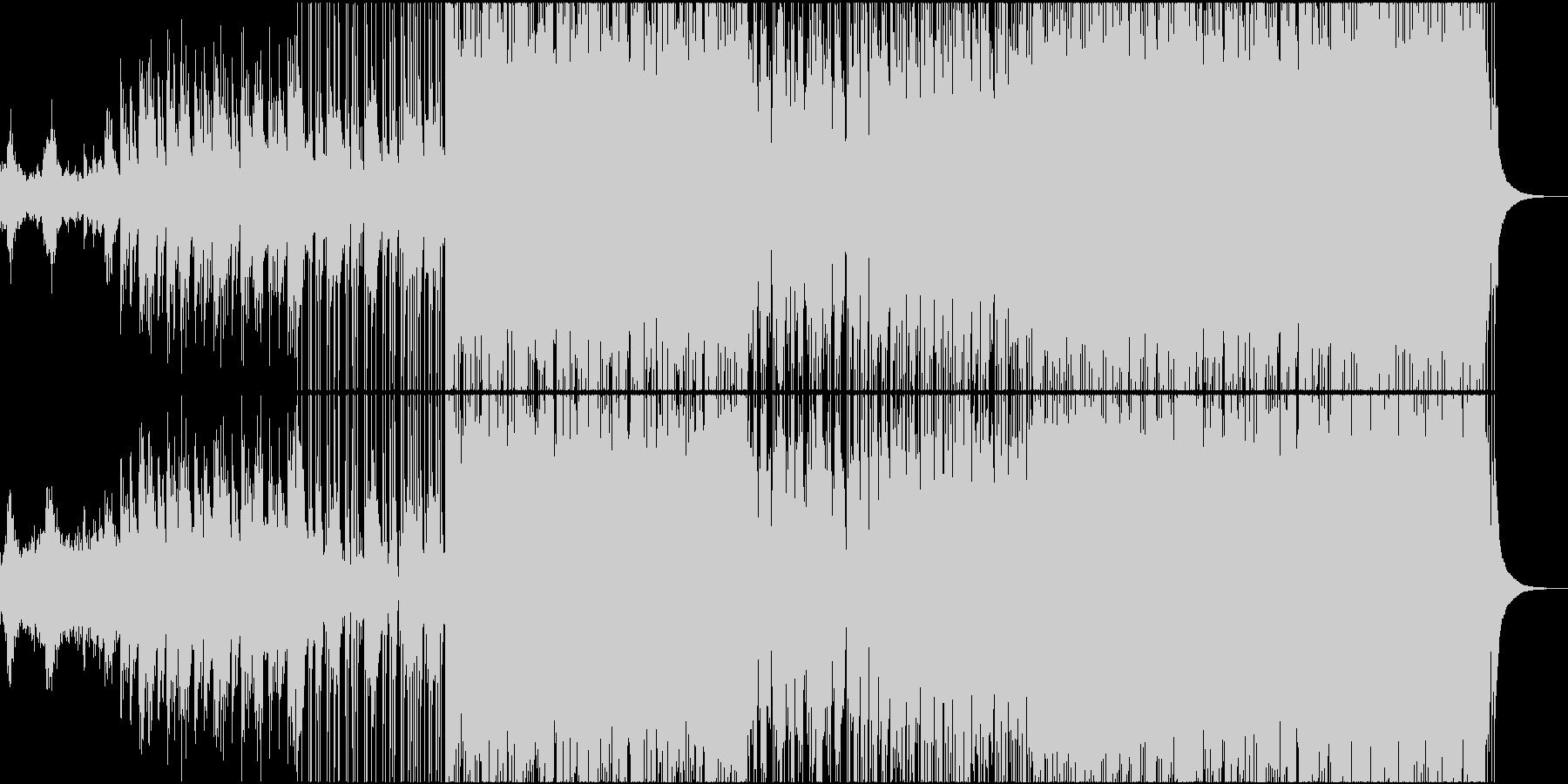尺八、琴、和太鼓と電子音の和風ロックの未再生の波形