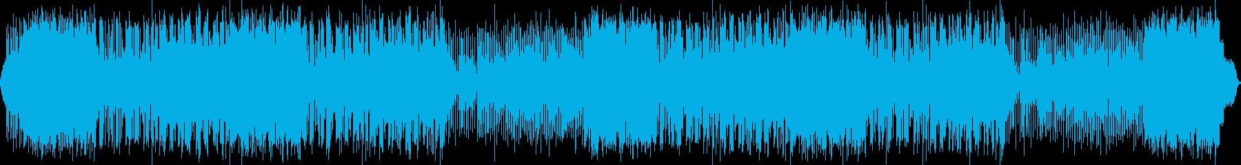 楽しく明るいポップロックBGMの再生済みの波形