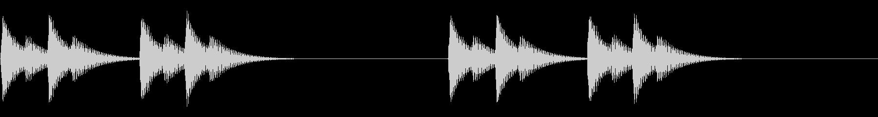 かわいく繰り返すベルアラート・警告音2の未再生の波形