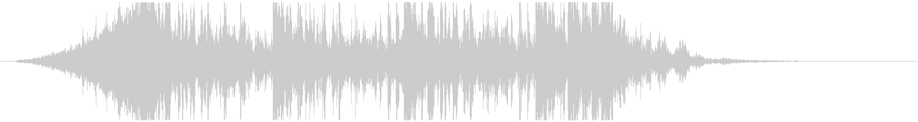 壮大で激しいリズムのサウンドロゴB(長)の未再生の波形