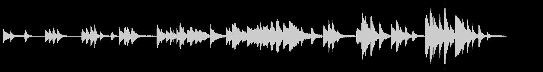 ドビュッシー「月の光」前半部分(部屋)の未再生の波形