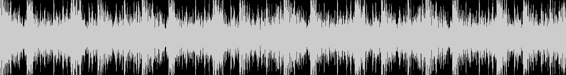 【ループ】和太鼓とドラムの激しい曲調の未再生の波形