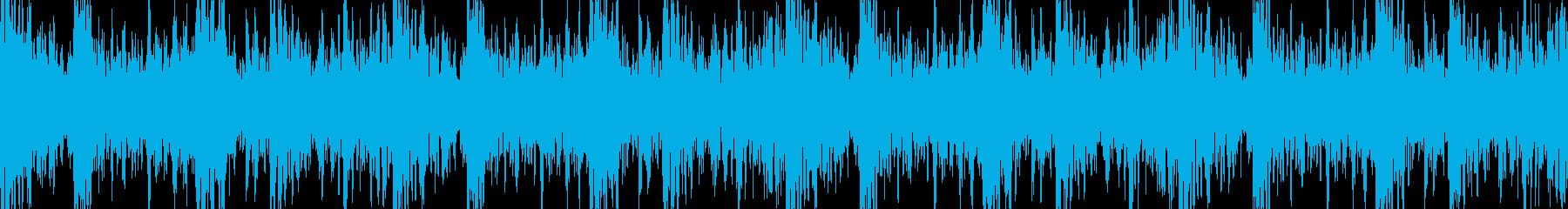 【ループ】和太鼓とドラムの激しい曲調の再生済みの波形