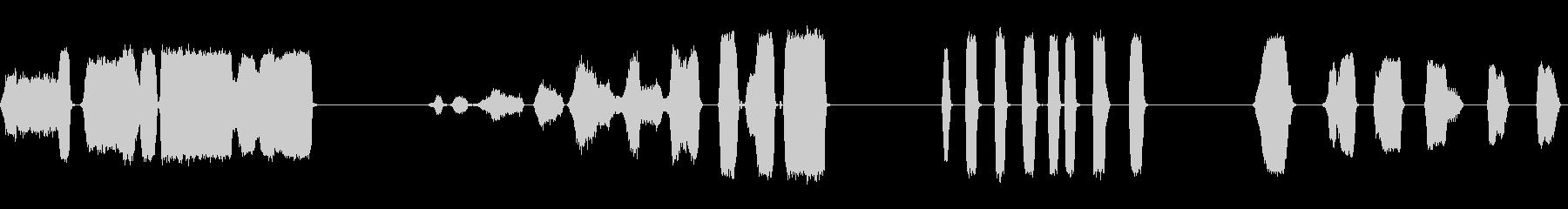 AIR、HISS、4バージョン; ...の未再生の波形