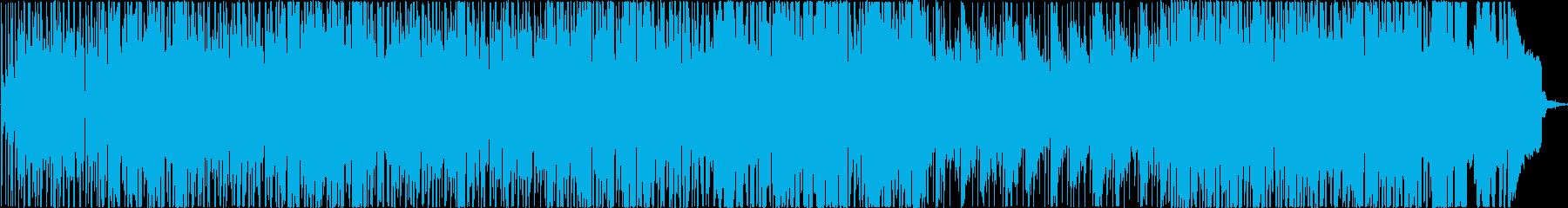 サックスとシンセのソロが特徴的なトラックの再生済みの波形