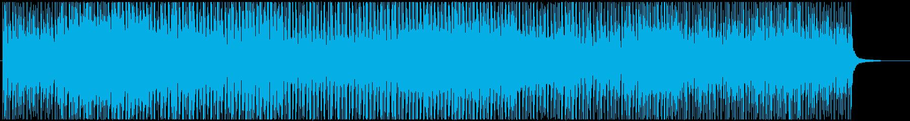 トロピカルなボサノバ風の再生済みの波形