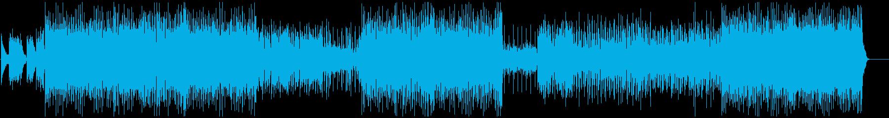 曲中でノリが変わるダンスミュージックの再生済みの波形