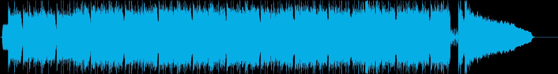 ギターリフの重いメタル曲の再生済みの波形
