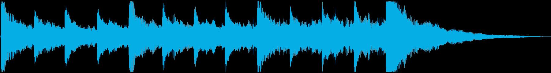 さみしい感じの ピアノ&ストリングスの再生済みの波形