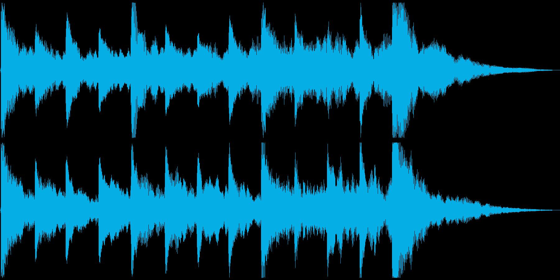 せつない感じの ピアノ&ストリングス①の再生済みの波形