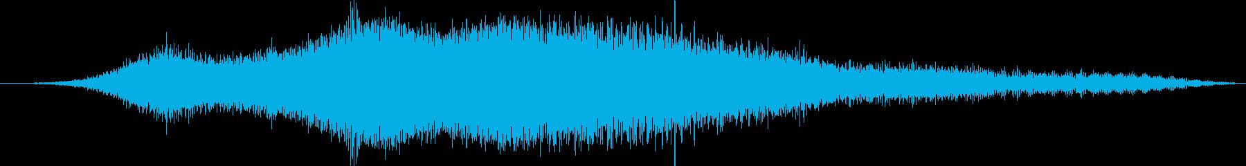 劇的なメタリックな外観のドローンの再生済みの波形