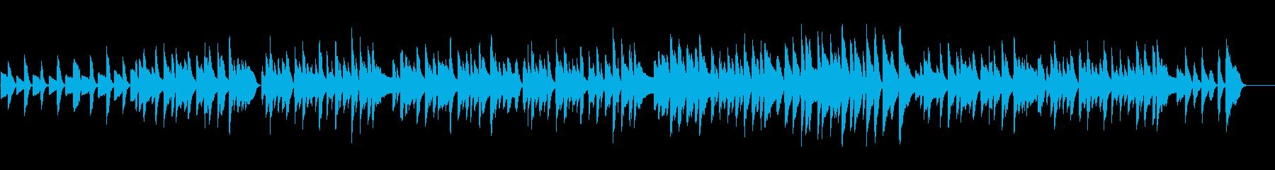 ピアノによる穏やかなでシンプルなBGMの再生済みの波形