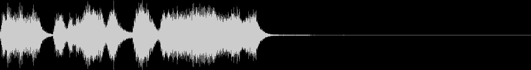 シンプル ファンファーレ 成功 完成 Dの未再生の波形