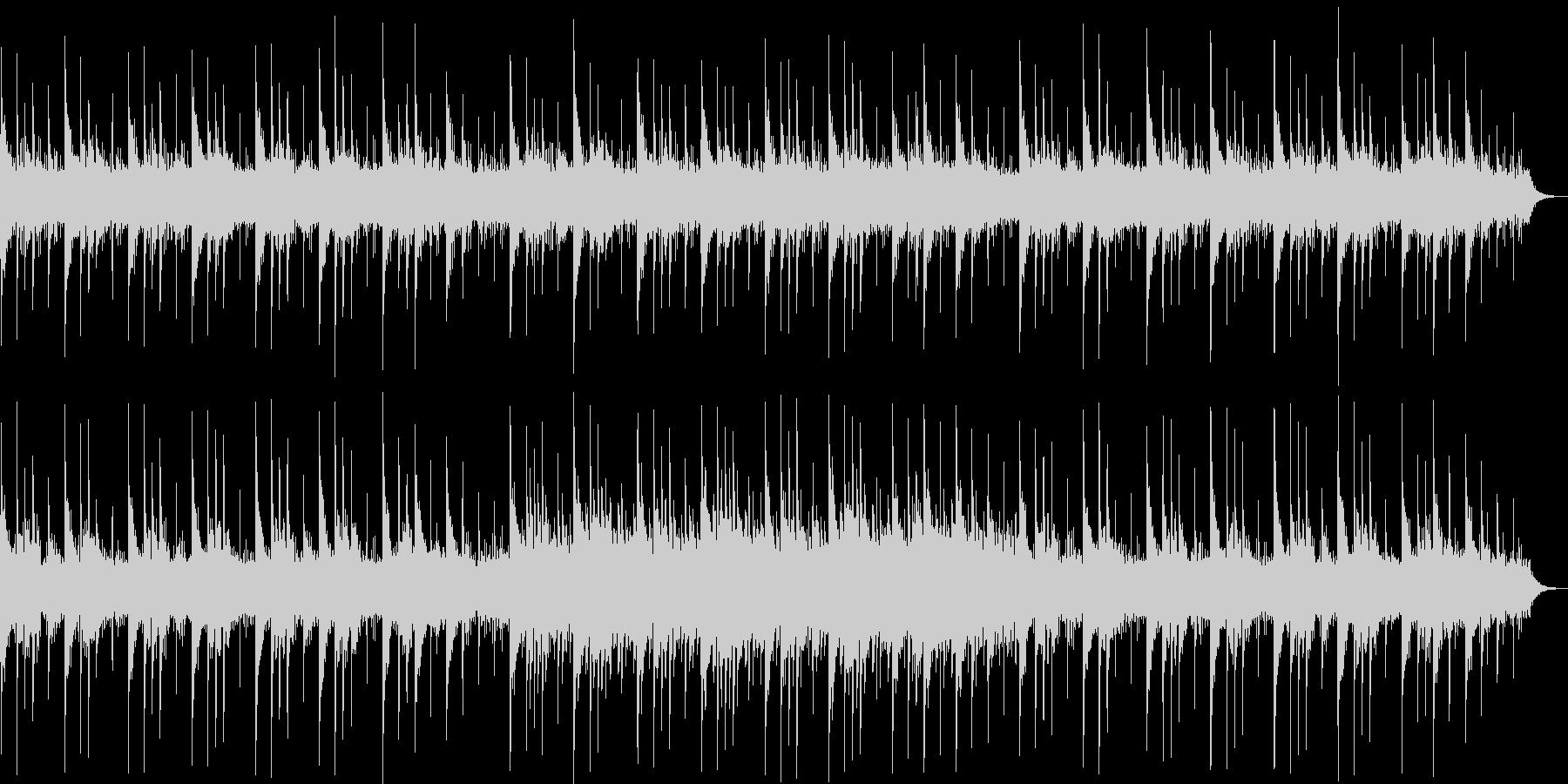 透き通るシンセサイザーサウンドの未再生の波形