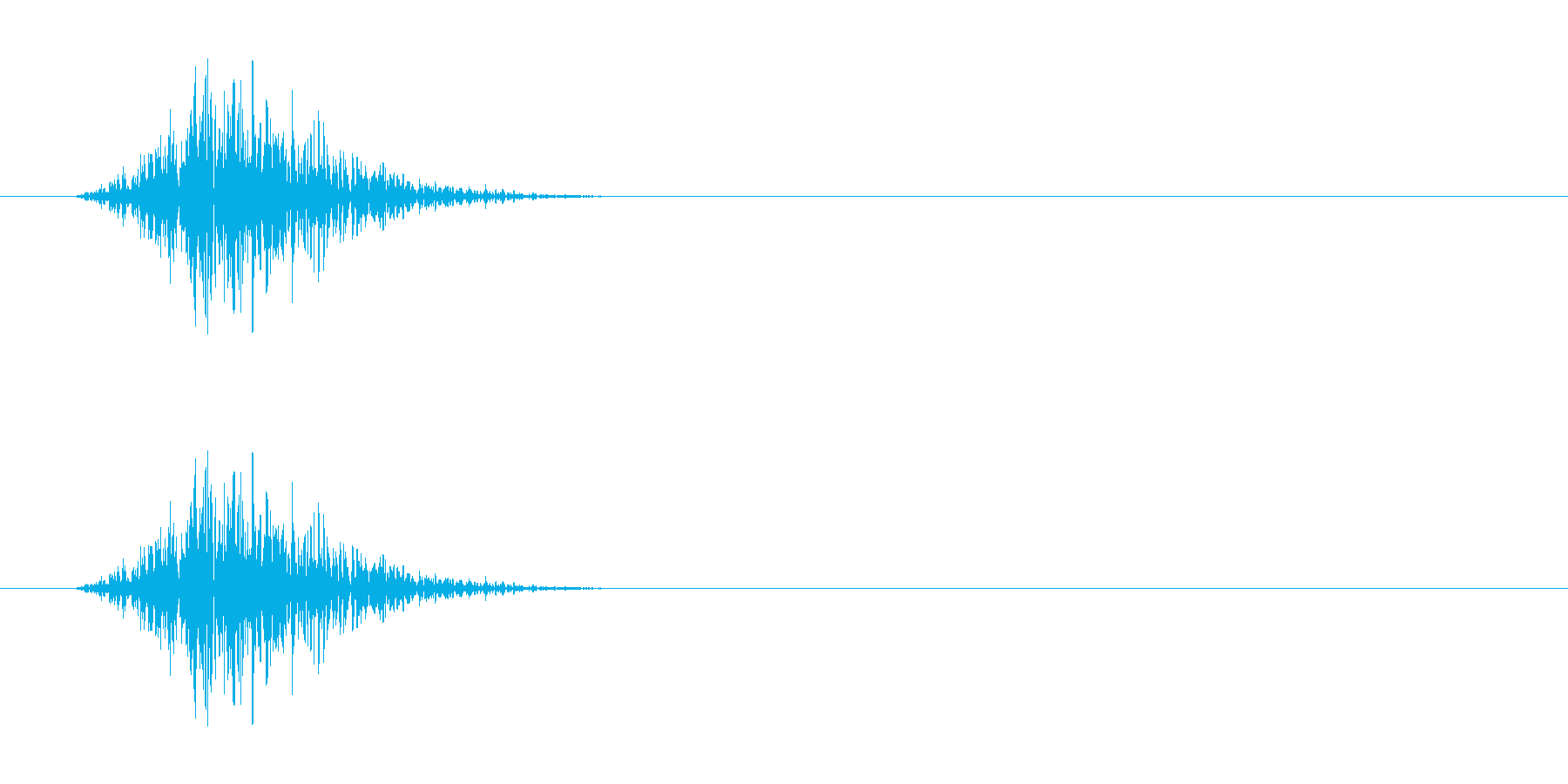 マントを脱ぐ音ですが動作と組み合わせる…の再生済みの波形