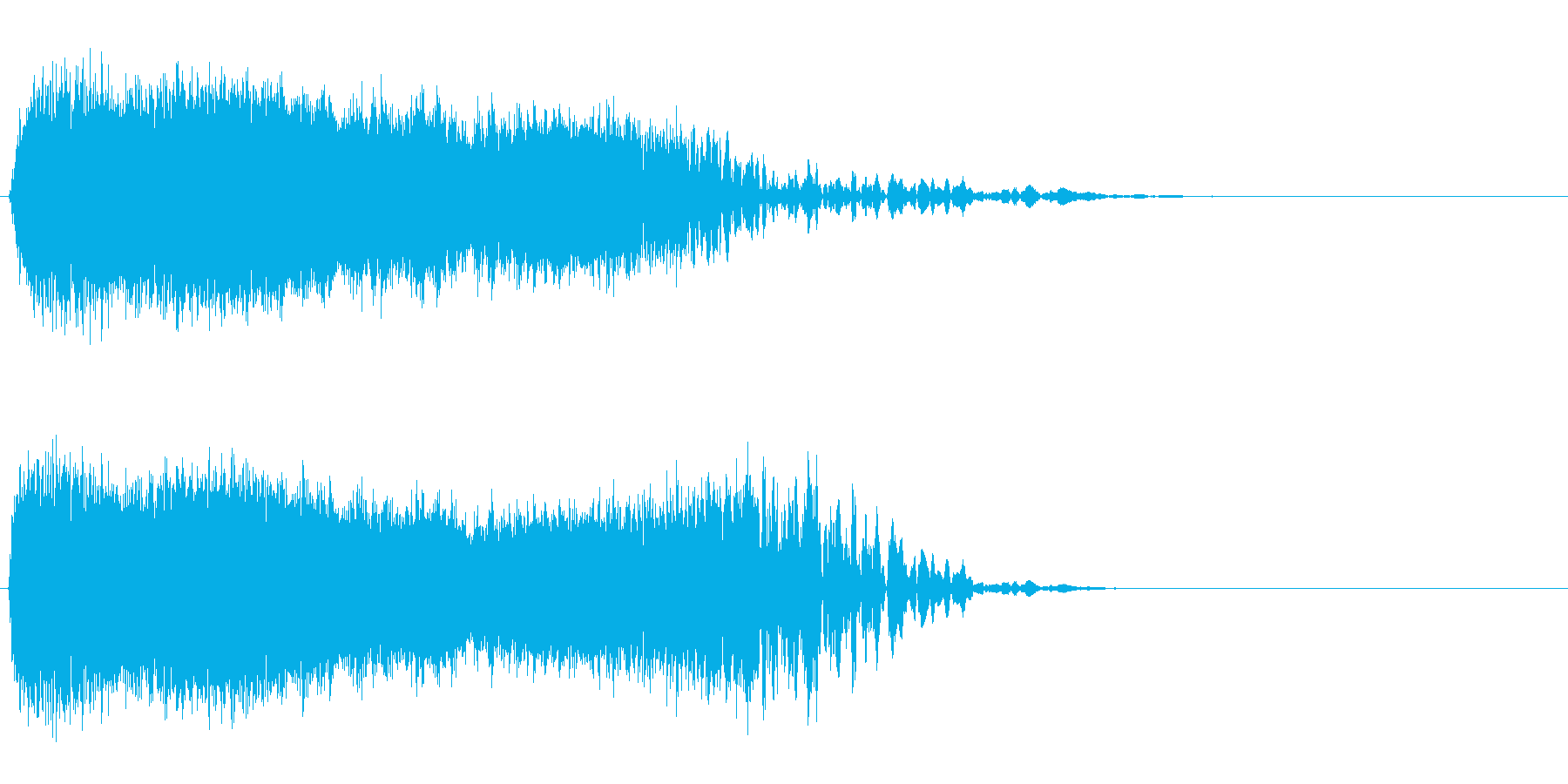 びしゅ~んという感じの音ですの再生済みの波形