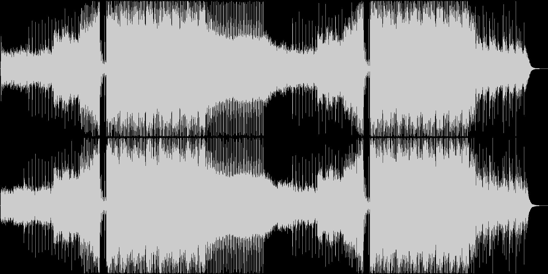 オシャレな映像に合うしっとりとしたハウスの未再生の波形