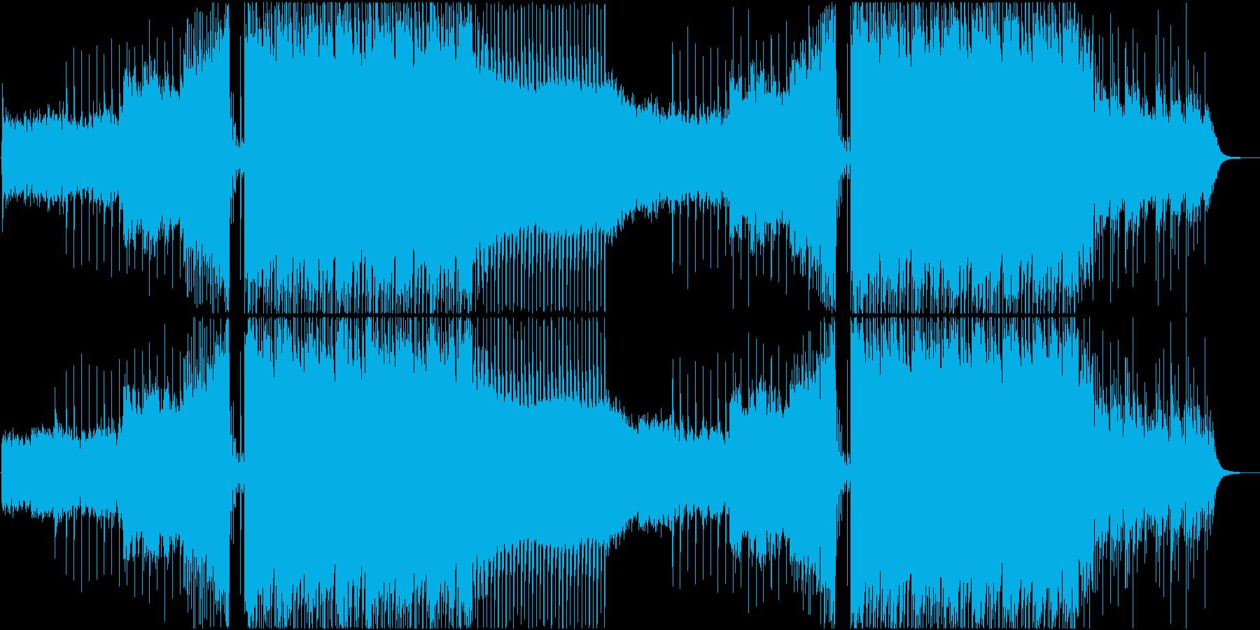 オシャレな映像に合うしっとりとしたハウスの再生済みの波形