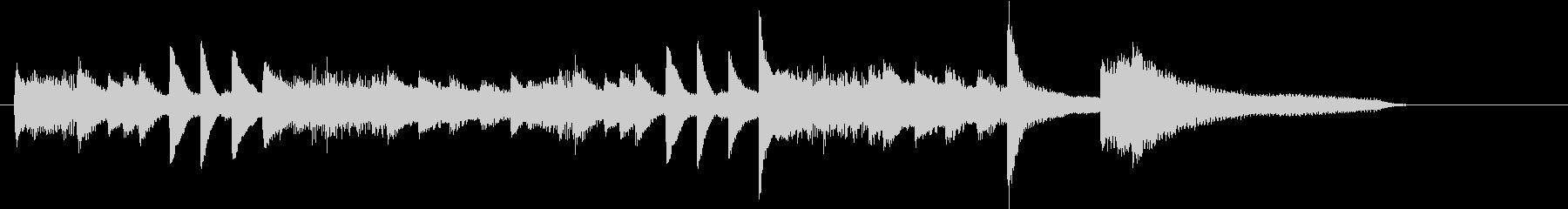 お正月・春の海モチーフのピアノジングルDの未再生の波形