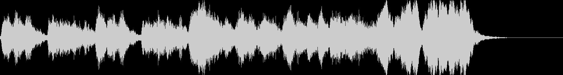 管弦楽のエキゾチックなジングルの未再生の波形