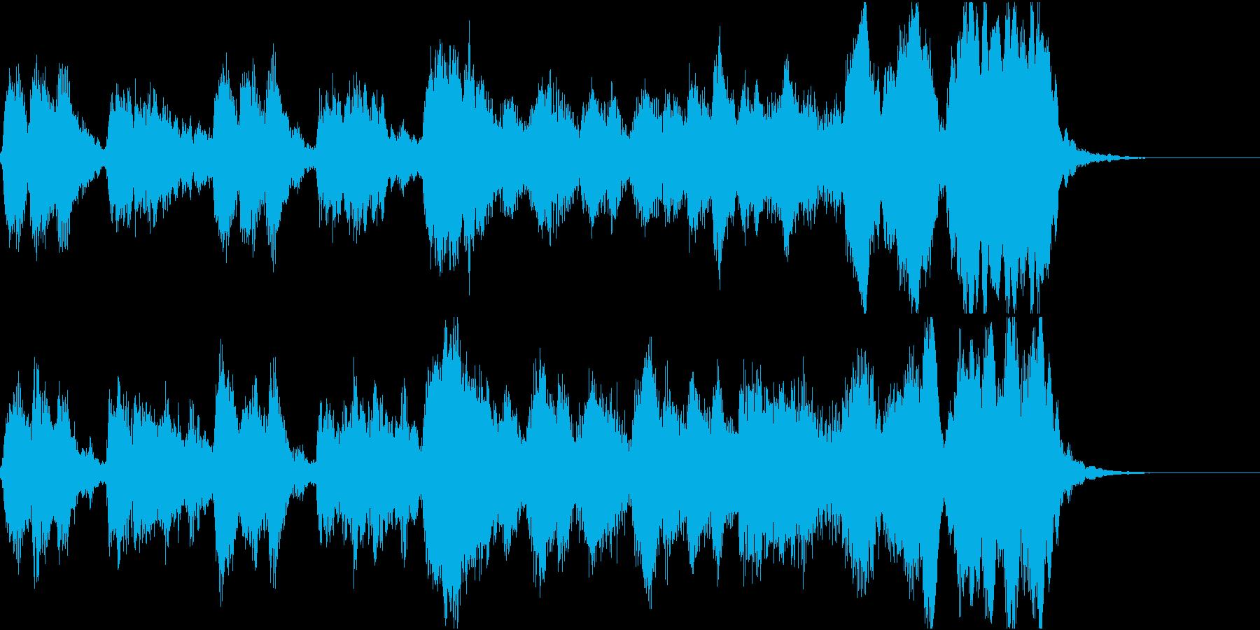 管弦楽のエキゾチックなジングルの再生済みの波形
